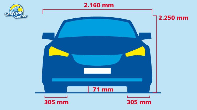 Maximale Abmessungen des Fahrzeugs